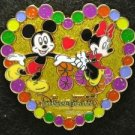 67095 Disney Pin 2009 HKDL - Sweetie Collection - Heart (Mickey & Minnie)