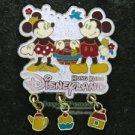 54644 Disney Pin 2007 HKDL - Classic Minnie & Mickey (Dangle)