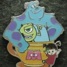 81809 Disney Pin 2011 HKDL Coffee Cup Series - Sulley, Mike, and Boo RARE