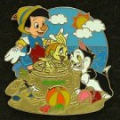 88800 Disney 2011 HKDL Mystery Tin Pin Golden Beach Coll - Pinocchio Figaro