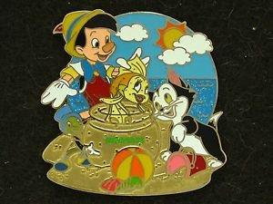 88800 Disney 2011 HKDL Mystery Tin Pin Golden Beach Coll - Pinocchio Figaro