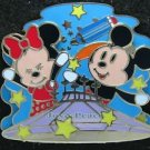 56097 Disney Pin 2007 HKDL - Bendy Mickey & Minnie on Space Mountain