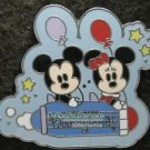 41338 Disney Pin 2005 HKDL Cute Characters - Mickey and Minnie - Space Mountain