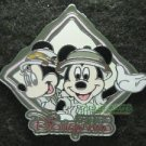 41294 Disney Pin 2005 HKDL - Mickey & Minnie Mouse on Safari