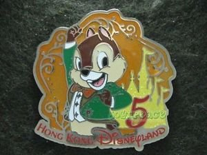 82280 Disney Pin 2011 HKDL 5th Anniversary Mystery Collection - Chip
