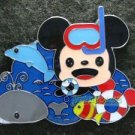 85254 Disney 2010 HKDL - Cuties 4 pin booster set Playtime (Mickey Snorkeling)