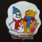 51220 Disney Pin HKDL - Christmas 2006 - Winnie the Pooh and Piglet with Snow
