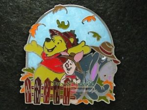 64864 Disney Pin 2008 HKDL - Pooh & Friends - Seasons Version 2 (Fall)