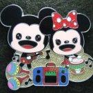 85243 Disney Pin 2010 HKDL - Cuties 4 pin booster set Playtime (Mickey & Minnie)