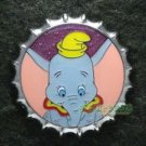 81354 Disney Pin 2010 HKDL Mystery Tin Pin Bottle Cap Collection - Dumbo