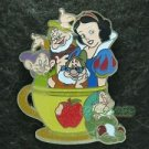 81811 Disney Pin 2011 HKDL Coffee Cup Series - Snow White Doc Dopey Happy Sleepy