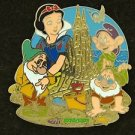 90371 Disney 2011 HKDL Mystery Tin Pin Golden Beach Coll - Snow White & Dwarfs