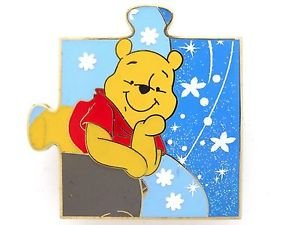 81831 Disney Pin 2010 HKDL Mystery Tin Puzzle Collection - Pooh