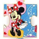 81823 Disney Pin 2010 HKDL Mystery Tin Puzzle Collection - Minnie