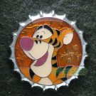 81696 Disney Pin 2010 HKDL Mystery Tin Pin Bottle Cap Collection - Tigger