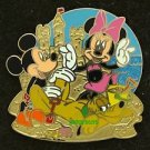90367 Disney 2011 HKDL Mystery Pin Golden Beach Coll - Mickey Minnie & Pluto