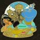 88804 Disney 2011 HKDL Mystery Tin Pin Golden Beach Coll - Jasmine & Genie