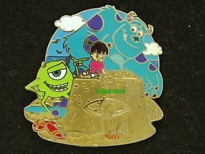 88808 Disney 2011 HKDL Mystery Pin Golden Beach Coll - Sulley Mike & Boo