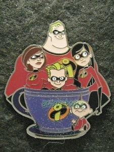 81815 Disney Pin 2011 HKDL Coffee Cup Series - Aladdin, Jasmine, Genie, and Abu