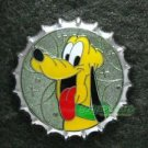 81695 Disney Pin 2010 HKDL Mystery Tin Pin Bottle Cap Collection - Pluto