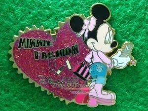 Disney Pin 2008 HKDL - Minnie Fashion - Glittered Heart