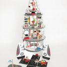 Discovery Space Center Wooden Spaceship and Lift-Off Rocket Playscape by alextoys