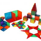 Magna-Tiles 3-D Building Set, Clear Colors - 100 pieces by alextoys