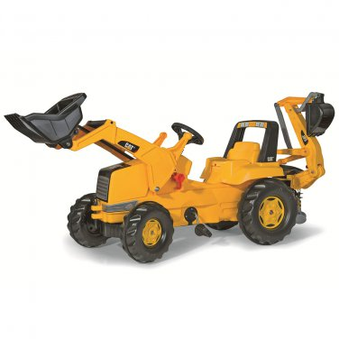 Kettler Caterpillar Kid Tractor with Loader and Back Hoe Tractor by alextoys
