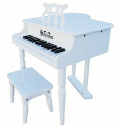 Schoenhut 30 Key Classic Baby Grand Piano white by alextoys