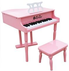 Schoenhut 30 Key Classic Baby Grand Piano pink by alextoys