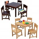 Farmhouse Table & Four Chairs natural by alextoys