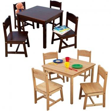 Farmhouse Table & Four Chairs natural by alextoys