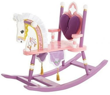 Levels of Discovery Kiddie Ups Princess Wooden Rocking Horse by alextoys
