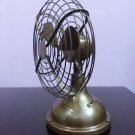 """Vintage Nautical Oscillating Table Fan Collectible in Brass 6"""" Antique F"""