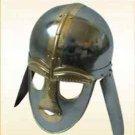 Vintage Armor Helmet Sutton Hoo- Italic -- Steel Helm Medieval Armour He
