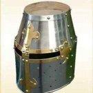 Vintage Crusader Knight helmet  Steel Helm Medieval Armour Helmet Larp C