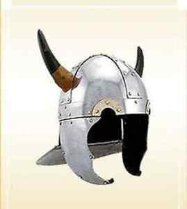 Pig Face Viking Helmet with Horn -- Steel Helm Medieval Armour Helmet La