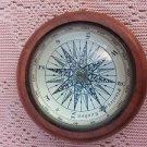 Amazing Vintage Nautical Compass with wooden base Marine