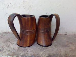 Large Rustic Viking drinking horn mugs beaker Game of thrones HBO ceremonial