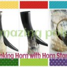 Large Medieval Viking Drinking Horn with stand Norwegian,pagan ,ceremonial