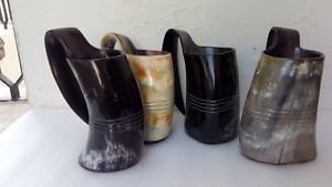 Amazing Viking Drinking Mug,Tankard SET OF FOUR for beer, wine, mead, pagan and