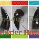 Black Indian Buffalo Powder Horn -- Pistol Powder horn