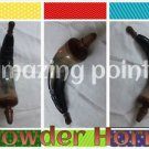 Amazing Black  Indian Buffalo Powder Horn -- Gun Powder