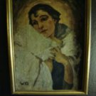 Art Deco Painting Czechoslovakia