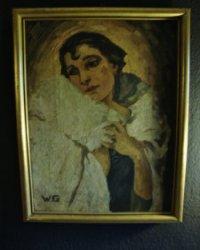 Art Deco Painting Czechoslovakia