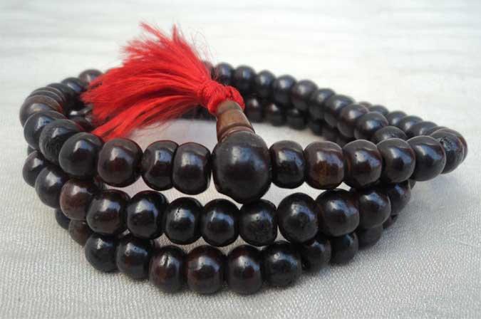 Plain Black Bone Mala 8mm Beads