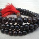 Plain Black Bone Mala 8mm Beads