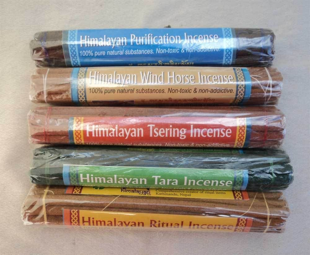 Five Mixed Scent Himalayan Incense Stick Pack