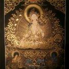 """White Tara Handpainted Thangka Painting(16""""x22"""")"""