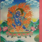 "Bajra Pani Handpainted Thangka Painting(16""x22"")"